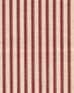 French Country Crimson Red Ticking Stripe Cotton 72 inch Rou