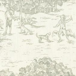 french country seafoam green toile