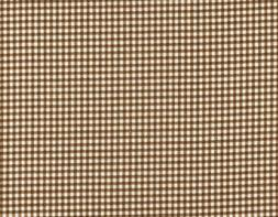 French Country Suede Brown Gingham Check 90 inch Round Table