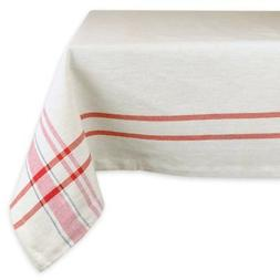 DII French Stripe Red Tablecloth