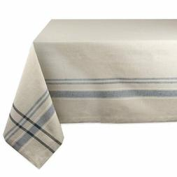DII French Stripe Tablecloth - Nautical Blue - 120L x 60W in