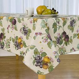 Everyday Luxuries Fresco Fruit Flannel Backed Vinyl Tableclo