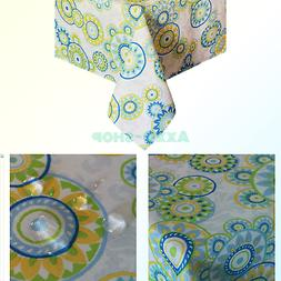 Eforcurtain Fresh Polka Dots Table Cover Water Repellent Fab