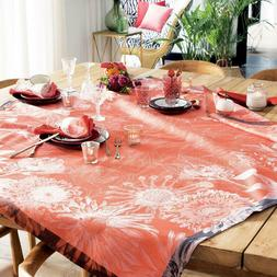 garnier thiebaut fleurage french cotton jacquard tablecloth