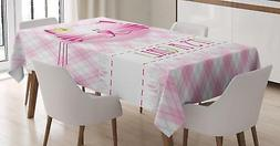 Gender Reveal Tablecloth Ambesonne 3 Sizes Rectangular Table