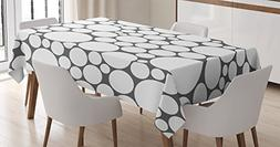 geometric circle tablecloth