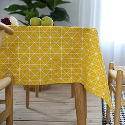 ColorBird Geometric Series Tablecloth Diamond Pattern Cotton