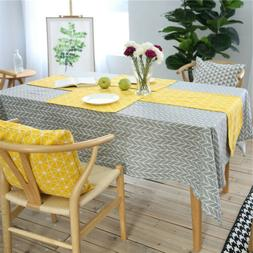 Geometric Table Cloth Cover Restaurant Kitchen Tea Tableclot
