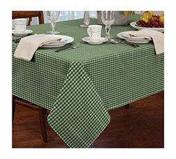 "GINGHAM CHECK GREEN WHITE SQUARE 34X34"" 90X90CM TABLE CLOT"