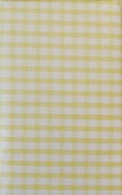Gingham Check Vinyl Flannel Back Tablecloth