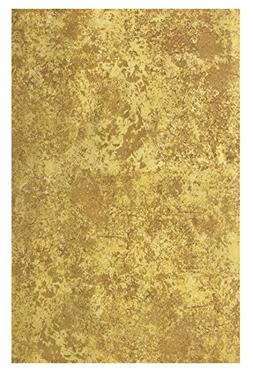 Gold Milano Marble Solid Color Print Heavy Gauge Vinyl Flann