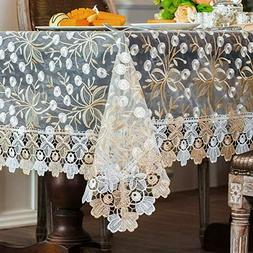 ARTABLE Gold Rectangle Tablecloth Vintage Embroidered Oblong