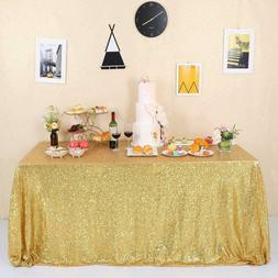 GFCC Gold Sequin Tablecloth - Glitter Party Wedding Banquets
