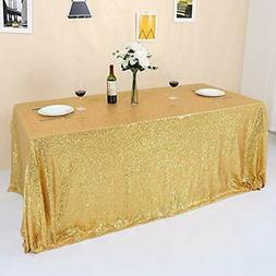 GFCC Gold Sequin Tablecloth Sparkly for Party Wedding Banque