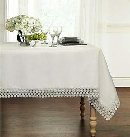 GoodGram Ultra Luxurious Textured Macrame Trim Fabric Tablec