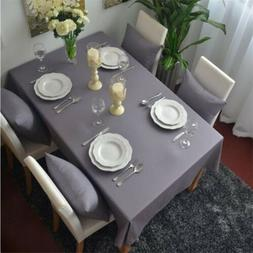 Gray Cotton Table Cloth Kitchen Tablecloth Table Cover Home