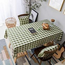 Green Table Cloth 52 x72 Inches Tablecloth Dining Table Chec