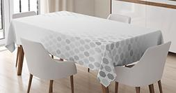 Ambesonne Grey Decor Tablecloth, Abstract Beam with Geometri