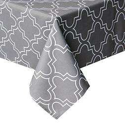 grey tablecloth spill proof