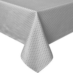 UFRIDAY Grey Waffle Checked Table Cloth 60x84 for Rectangle
