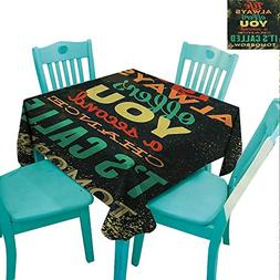"""Grunge Flow """"Spillproof"""" Fabric Tablecloth Life Always Offer"""