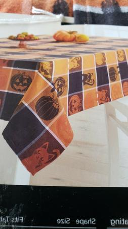 HALLOWEEN TABLECLOTH OBLONG 60X84 52%COTTON 48%POLYESTER