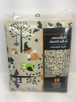 Halloween Vinyl Table Cloth - Critters, Animals - For Rectan