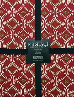 Ralph Lauren Hampstead Red Christmas Holiday Tablecloth | 70