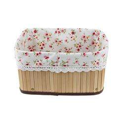 FakeFace Handmade Foldable Wicker Storage Basket with Liner