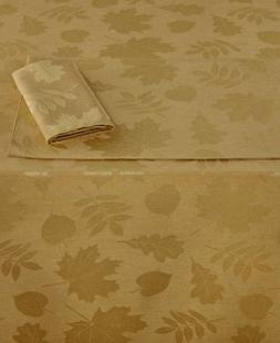 Homewear Harvest Berkshire Leaves Oblong Tablecloth, Gold