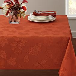 "Benson Mills Harvest Legacy Damask Tablecloth Rust, 60"" x 14"