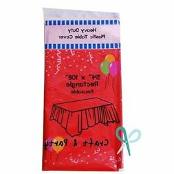 Heavy Duty Plastic Table Covers Tablecloth
