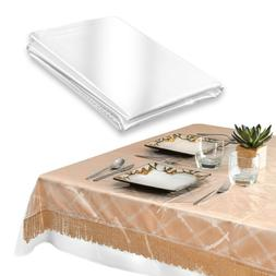 HEAVY DUTY VINYL TABLECLOTH SPILL DAMAGE PROTECTOR EASY CARE
