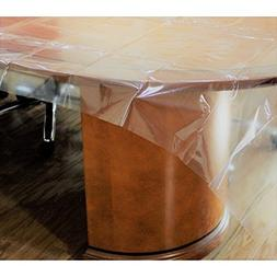 Exquisite Heavy Duty Waterproof Plastic Table Cover, Crystal