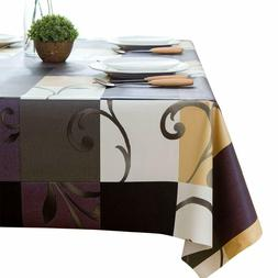 LEEVAN Heavy Weight Vinyl Rectangle Table Cover Clean Wipe 5