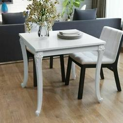 "vidaXL Dining Table 31.5"" High Gloss White Dinner Table Home"