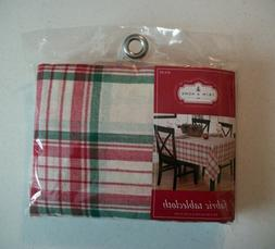 holiday plaid rectangular fabric table cloth