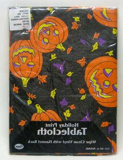 Elrine Home Fashions Halloween Patch Table Cloth 60 in. Roun