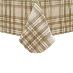 Elrene Home Fashions Vinyl Tablecloth with Polyester Flannel