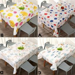 Home Waterproof Oil Proof Table Cloth Kitchen Decorative Din