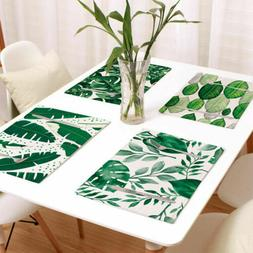 Hot Cotton linen Table Cloth Leaf Print Rectangle Shape Home