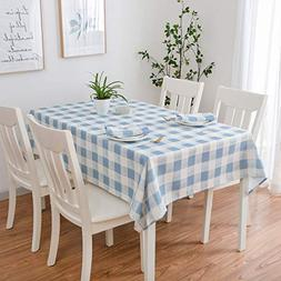 Eforcurtain 60 Inch by 102 Inch Plaid Table Cover Home Check