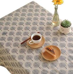 inch rustic tree tablecloth cotton