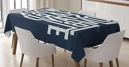 Inspirational Tablecloth Ambesonne 3 Sizes Rectangular Table