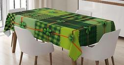 Irish Tablecloth Ambesonne 3 Sizes Rectangular Table Cover D