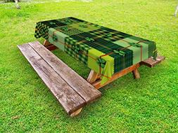 Ambesonne Irish Outdoor Tablecloth, Patchwork Style St. Patr