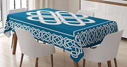 Irish Tablecloth by Ambesonne, Celtic Love Knot Good Fortune