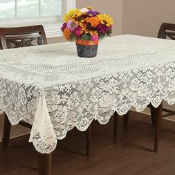 IVORY  Lace Tablecloth  60 x 84 RECTANGLE BUCKINGHAM