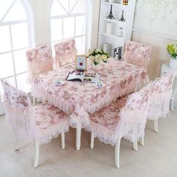 Jacquard weave Roses Lace Tablecloth Table Cloth Cover Outdo
