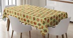 Jazz Music Tablecloth Ambesonne 3 Sizes Rectangular Table Co